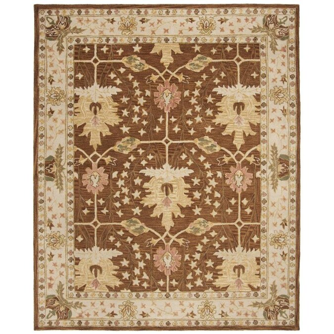 Safavieh Anatolia Byzan 10 X 14 Brown Beige Indoor Floral Botanical Vintage Handcrafted Area Rug In The Rugs Department At Lowes Com