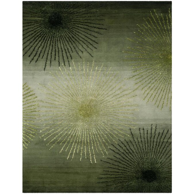 Safavieh Soho Starburst 8 X 10 Green Multi Indoor Abstract Handcrafted Area Rug In The Rugs Department At Lowes Com