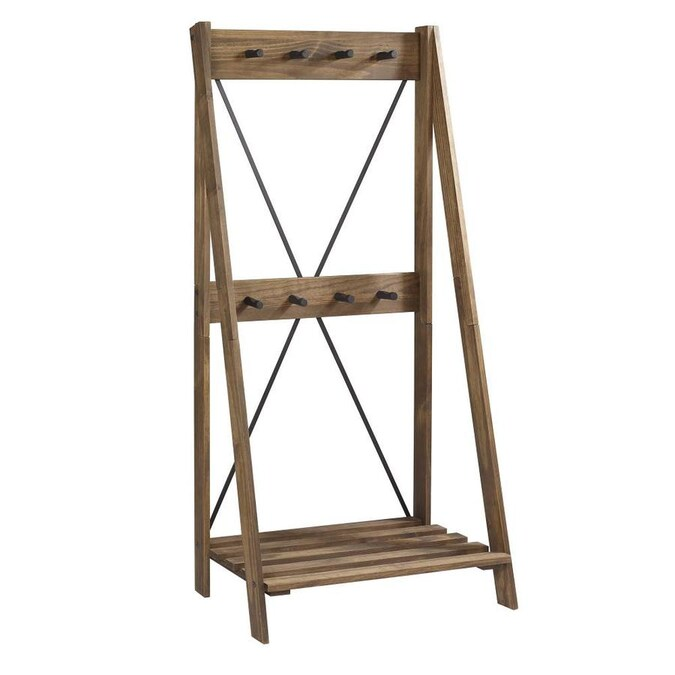 Walker Edison Brown 8 Hook Coat Stand In The Coat Racks Stands Department At Lowes Com