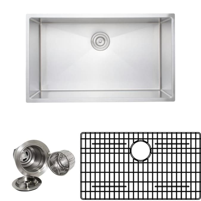 Wells Sinkware New Chef S Collection Undermount 32 75 In X 19 In Stainless Steel Double Offset Bowl Kitchen Sink In The Kitchen Sinks Department At Lowes Com