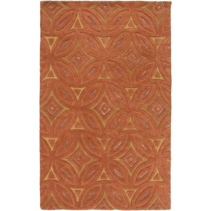 Surya Perspective 9 X 13 Camel Indoor Abstract Mid Century Modern Handcrafted Area Rug In The Rugs Department At Lowes Com