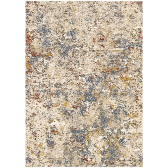 Surya Tuscany 4 X 6 Beige Indoor Abstract Vintage Area Rug In The Rugs Department At Lowes Com