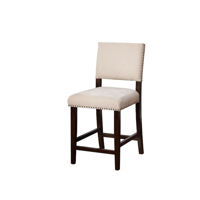 Linon Corey Natural Counter Height Upholstered Bar Stool In The Bar Stools Department At Lowes Com