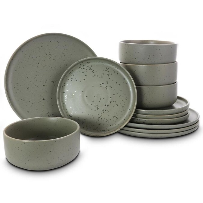 Gibson Home Green Dinnerware In The Dinnerware Department At Lowes Com
