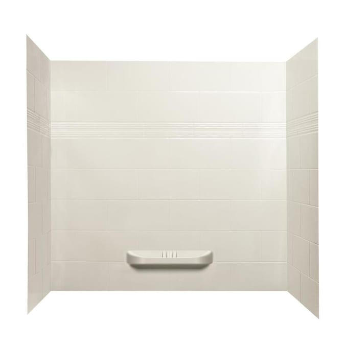 A E Bath And Shower Modern White Three Piece Shower Wall Surround 60 In X 36 In In The Shower Wall Surrounds Department At Lowes Com
