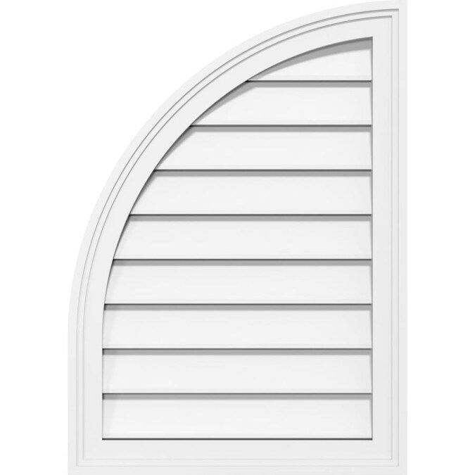 Ekena Millwork 20 In W X 26 In H Horizontal Peaked Gable Vent 25 3 4 In W X 31 In H Frame Size Functional Pvc Gable Vent W 1 In X 4 In Flat Trim Frame In The Gable Vents