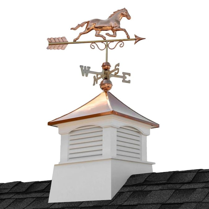 Good Directions 26in Square Coventry Vinyl Cupola With Rooster Weathervane By Good Directions In The Cupolas Department At Lowes Com