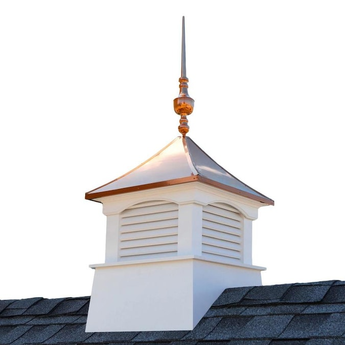 Good Directions 30in Square Coventry Vinyl Cupola With Victoria Copper Finial By Good Directions In The Cupolas Department At Lowes Com