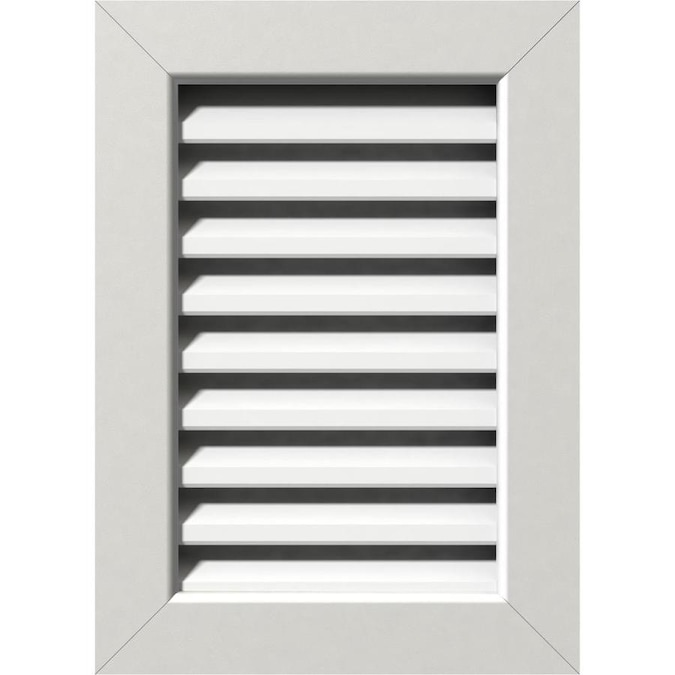 Ekena Millwork 20 In W X 30 In H Vertical Gable Vent 25 In W X 35 In H Frame Size Functional Pvc Gable Vent W 1 In X 4 In Flat Trim Frame In The Gable Vents Department