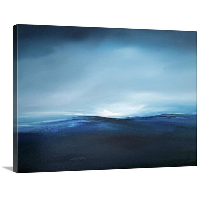 Greatbigcanvas Greatbigcanvas Frameless 30 In H X 40 In W Abstract Canvas Painting In The Wall Art Department At Lowes Com
