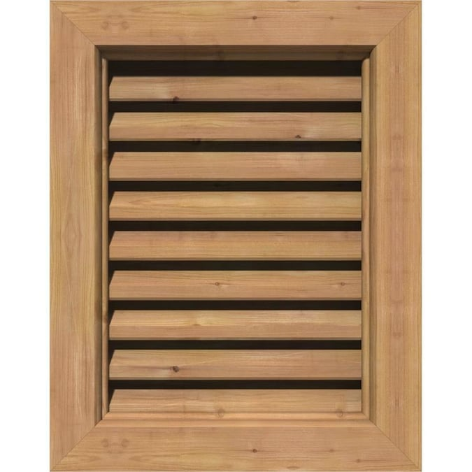 Ekena Millwork 18 In W X 18 In H Vertical Urethane Gable Vent Louver Non Functional In The Gable Vents Department At Lowes Com