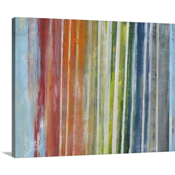 Greatbigcanvas Greatbigcanvas Frameless 16 In H X 20 In W Abstract Canvas Painting In The Wall Art Department At Lowes Com