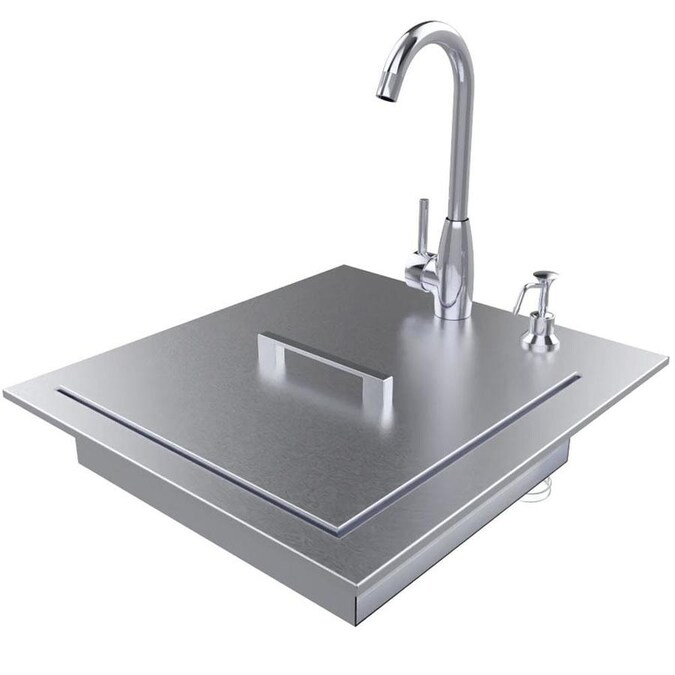 Sunstone Premium Sink 22 25 In L X 20 5 In W Stainless Steel 4 2 Hole Stainless Steel Commercial Residential Bar Sink In The Bar Prep Sinks Department At Lowes Com
