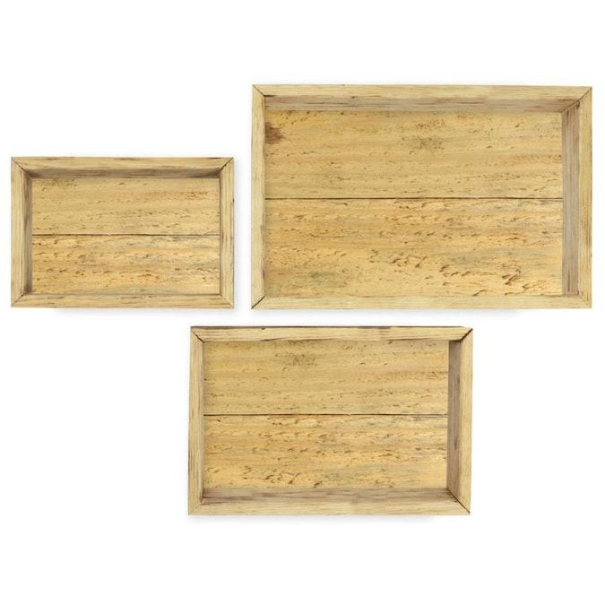 Ekena Millwork Set Of 3 Rectangle Closed Back Vintage Farmhouse Shadow Box Shelves Barnwood Decor Collection Reclaimed Grey In The Wall Art Department At Lowes Com