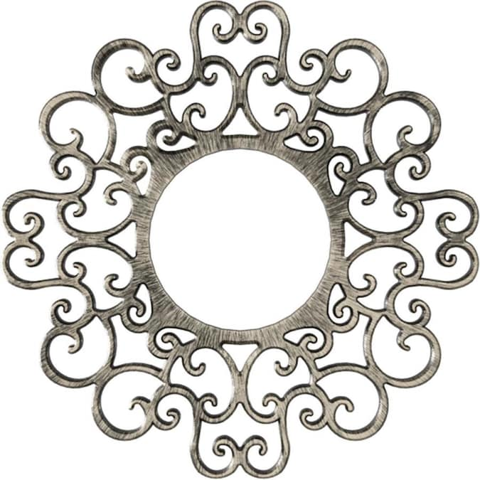 Ekena Millwork Reims 36 In X 36 In Antiqued Warm Silver Pvc Ceiling Medallion In The Ceiling Medallions Department At Lowes Com