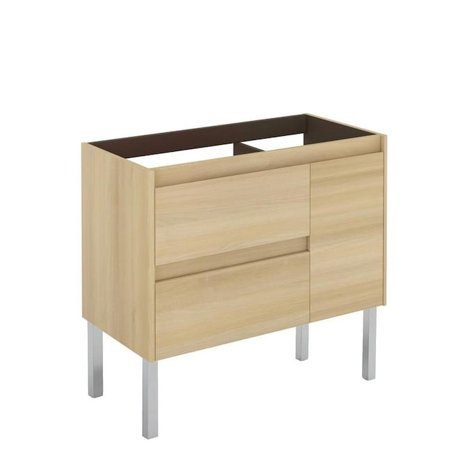 Ws Bath Collections Ambra 36 In Nordic Oak Bathroom Vanity Cabinet In The Bathroom Vanities Without Tops Department At Lowes Com