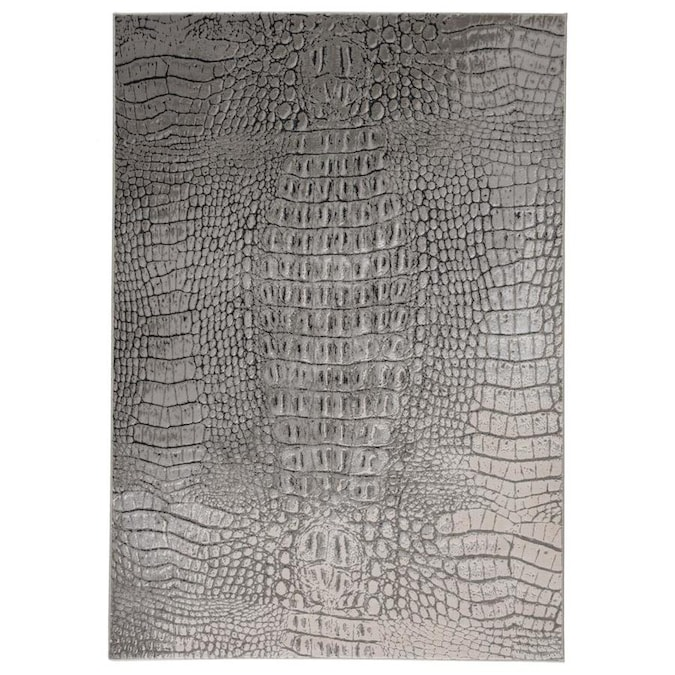 Nala 5 X 8 Gray Black Indoor Animal Print Area Rug In The Rugs Department At Lowes Com