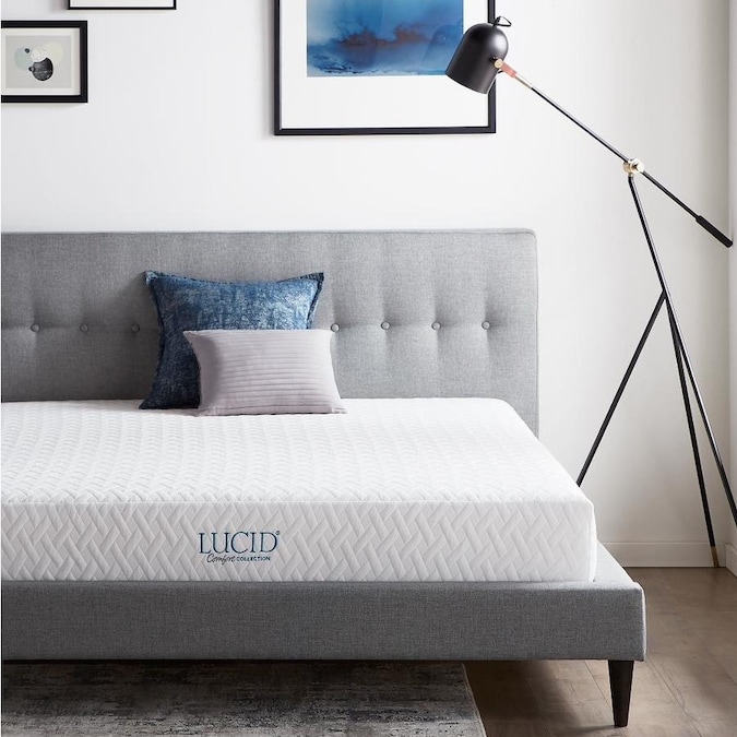 Lucid Comfort Collection 8 In Firm Full Memory Foam Mattress In The Mattresses Department At Lowes Com