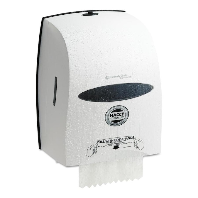 Kimberly Clark Sanitouch Hard Roll Towel Dispenser 12 63 100w X 10 1 5d X 16 13 100h White In The Paper Towel Dispensers Department At Lowes Com