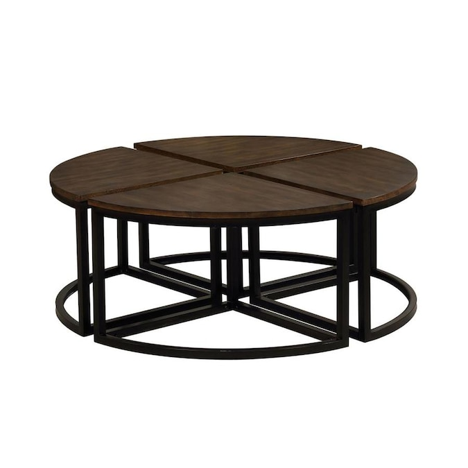 Alaterre Furniture Arcadia Antiqued Mocha Wood Coffee Table In The Coffee Tables Department At Lowes Com