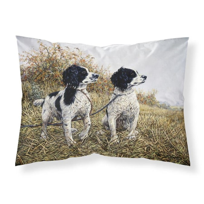 Caroline S Treasures Graphic Print Multicolor Rectangular Dogs Throw Pillow In The Outdoor Decorative Pillows Department At Lowes Com