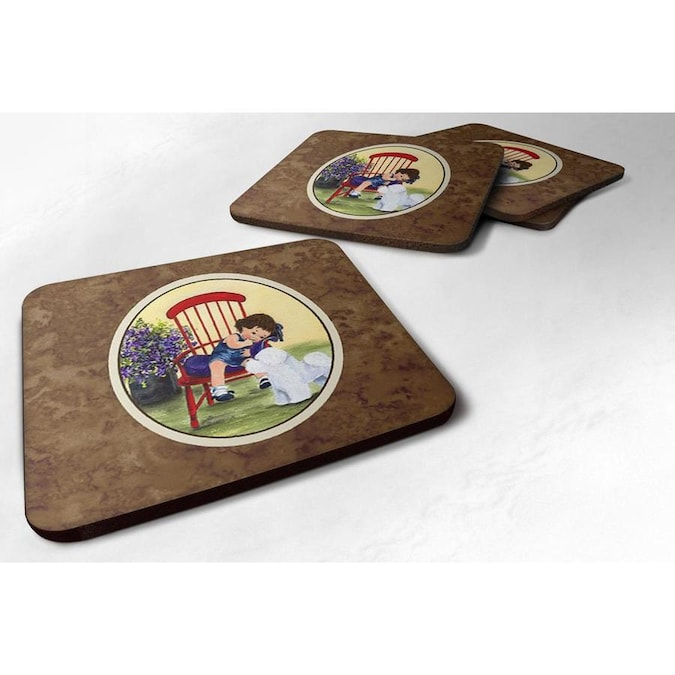 Caroline S Treasures Poly Square Coaster S In The Serveware Accessories Department At Lowes Com