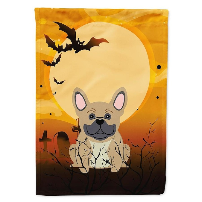 Caroline S Treasures 0 96 Ft W X 1 25 Ft H Halloween Garden Flag In The Decorative Banners Flags Department At Lowes Com