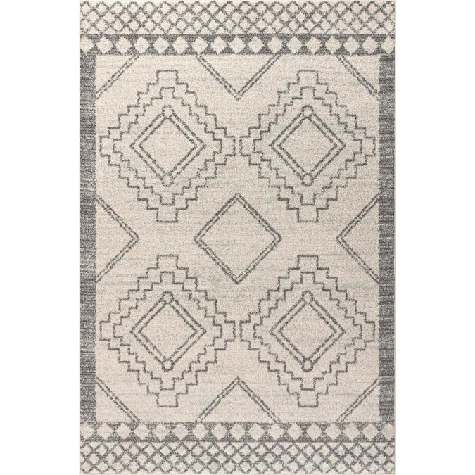 Jonathan Y Moroccan Hype 8 X 10 Cream Gray Indoor Geometric Area Rug In The Rugs Department At Lowes Com