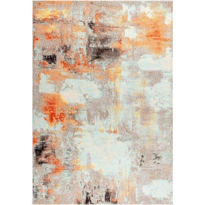 Jonathan Y Contemporary Pop 8 X 10 Cream Orange Indoor Abstract Area Rug In The Rugs Department At Lowes Com