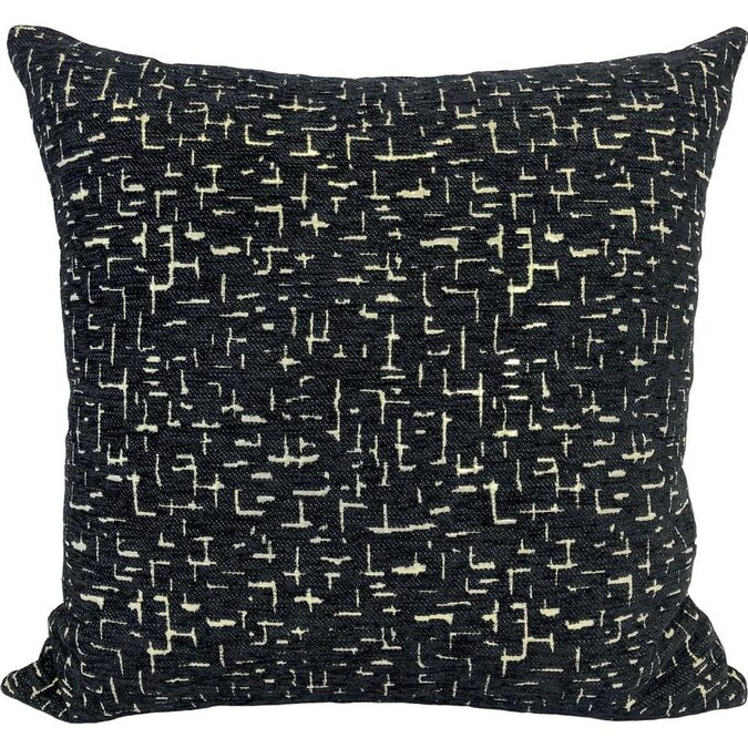 Westex 20 In X 20 In Black Cotton Polyester Blend Square Indoor Decorative Pillow In The Throw Pillows Department At Lowes Com