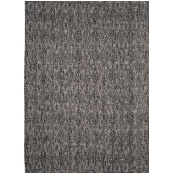 Safavieh Courtyard Freeport 9 X 12 Black Black Indoor Outdoor Abstract Area Rug In The Rugs Department At Lowes Com