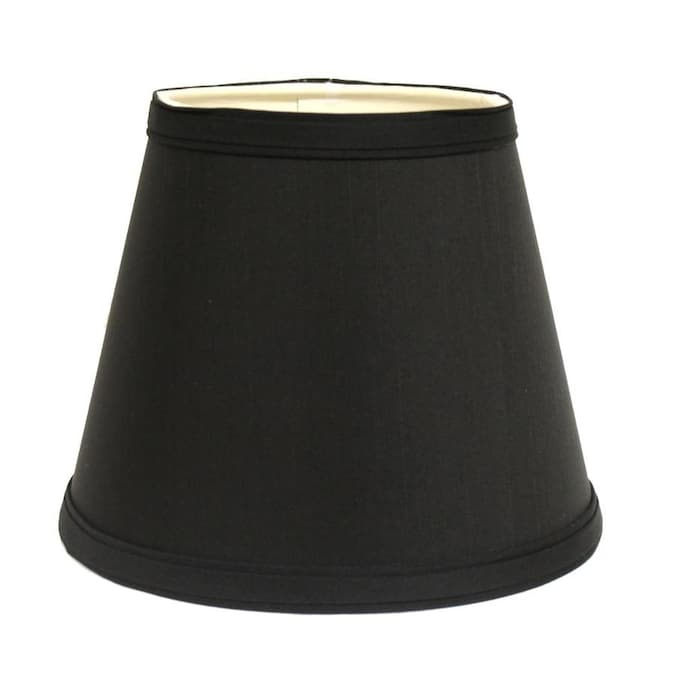 Cloth Wire Slant Empire Hardback L Amphade With Washer Fitter Black With White Lining In The Lamp Shades Department At Lowes Com