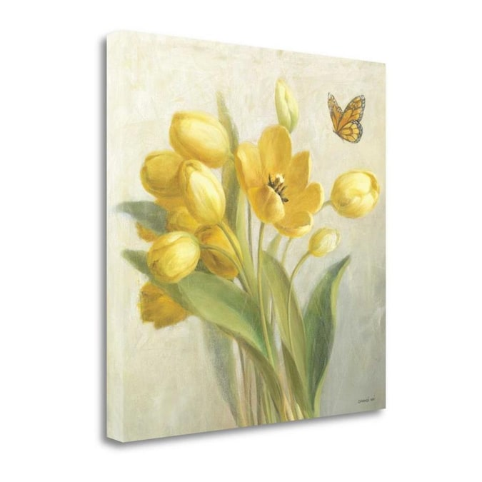 Stupell Industries Abstract Rose Flower Bush Yellow Painting Frameless 40 In H X 30 In W Abstract Canvas Print In The Wall Art Department At Lowes Com