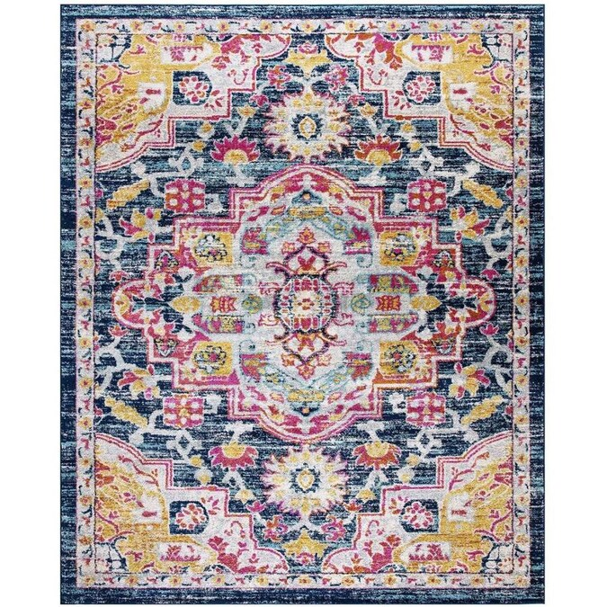 Lnc Clea Choice 8 X 10 Red Indoor Medallion Bohemian Eclectic Area Rug In The Rugs Department At Lowes Com
