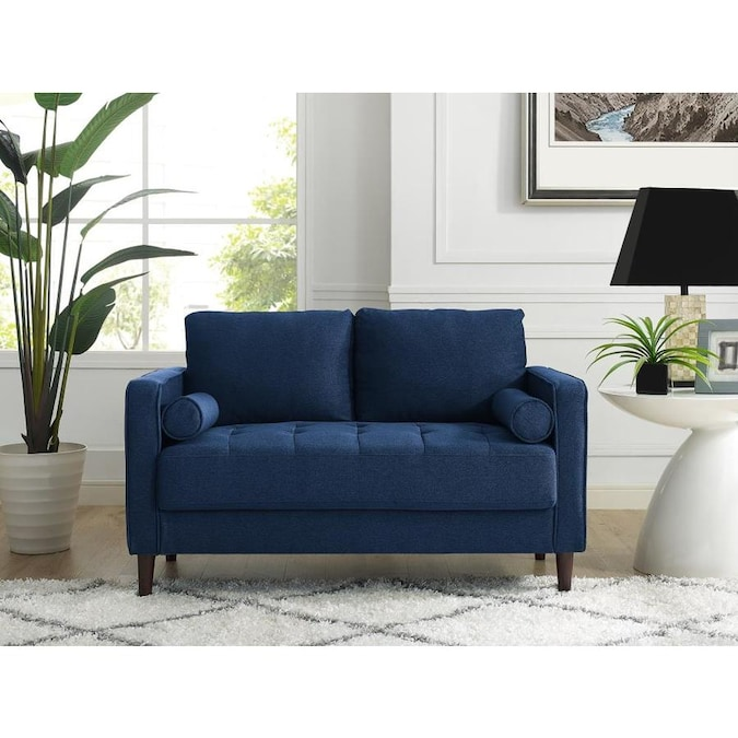Lifestyle Solutions Casual Navy Blue Loveseat In The Couches Sofas Loveseats Department At Lowes Com