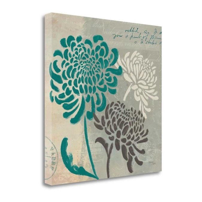 Trademark Fine Art Floral Framed 24 In H X 24 In W Floral Canvas Print In The Wall Art Department At Lowes Com