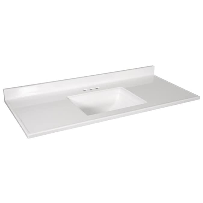 Design House Camilla 49 In Solid White Cultured Marble Single Sink Bathroom Vanity Top In The Bathroom Vanity Tops Department At Lowes Com