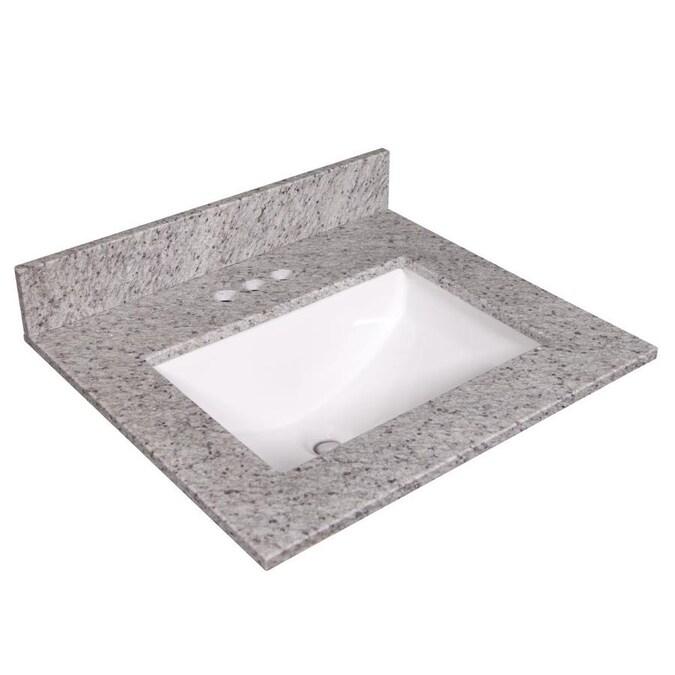 Design House 25 In Kashmir White Granite Single Sink Bathroom Vanity Top In The Bathroom Vanity Tops Department At Lowes Com