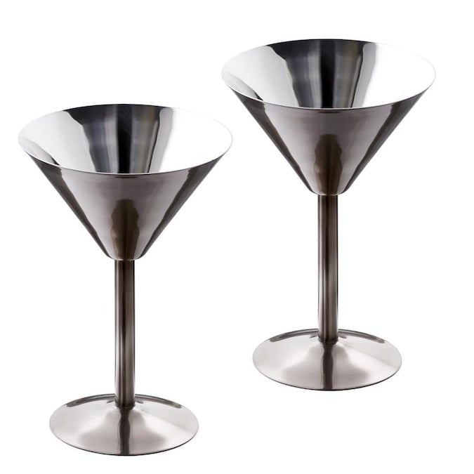 Old Dutch 6 Fl Oz Stainless Steel Martini Set Of 2 In The Drinkware Department At Lowes Com