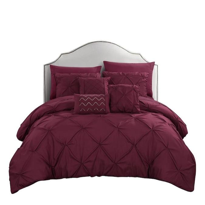 Piece Burdy King Comforter Set, Raspberry Colored Bedding