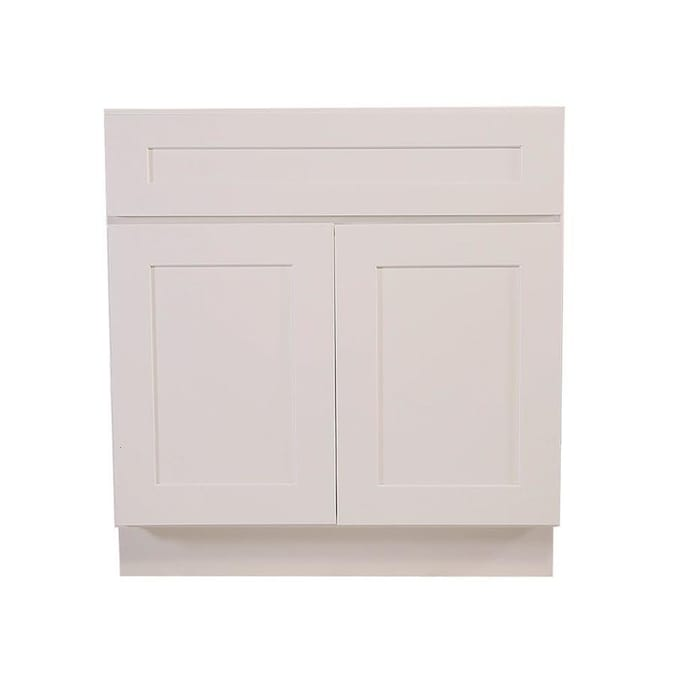 Design House 36 In W X 34 5 In H X 24 In D White Maple Door Base Semi Custom Cabinet In The Semi Custom Kitchen Cabinets Department At Lowes Com