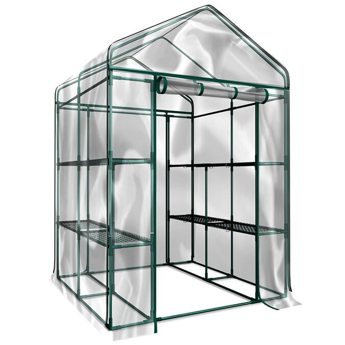 Hastings Home Hastings Home Walk In Greenhouse 4 69 Ft L X 4 69 Ft W X 6 39 Ft H Pop Up Greenhouse In The Greenhouses Department At Lowes Com