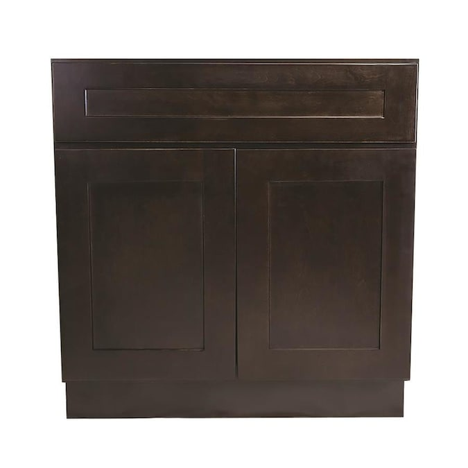 Design House Ready To Assemble 36 In X 34 1 2 In X 24 In Brookings Shaker Style 2 Door Sink Base Cabinet In Espresso In The Semi Custom Kitchen Cabinets Department At Lowes Com