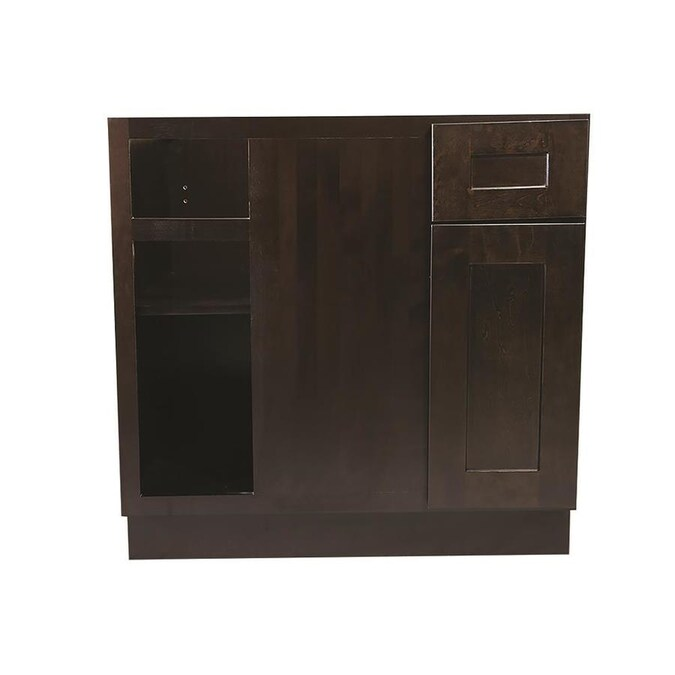 Design House Ready To Assemble 33x24x34 1 2 In Brookings Shaker Style 2 Door Sink Base Cabinet In Espresso In The Semi Custom Kitchen Cabinets Department At Lowes Com