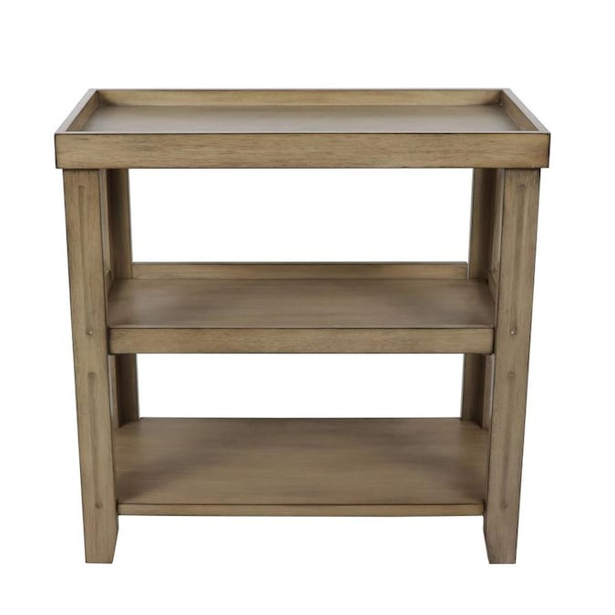 Decor Therapy Mahogany Wood End Table In The Tables Department At Com - Solid Mahogany Wood Entry Wall Console Sofa Table