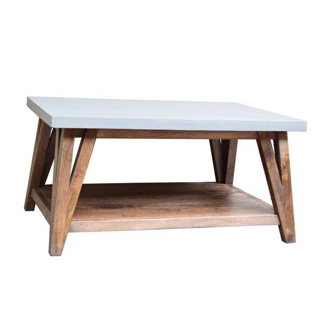 Alaterre Furniture Brookside Light Gray Stone Coffee Table In The Coffee Tables Department At Lowes Com