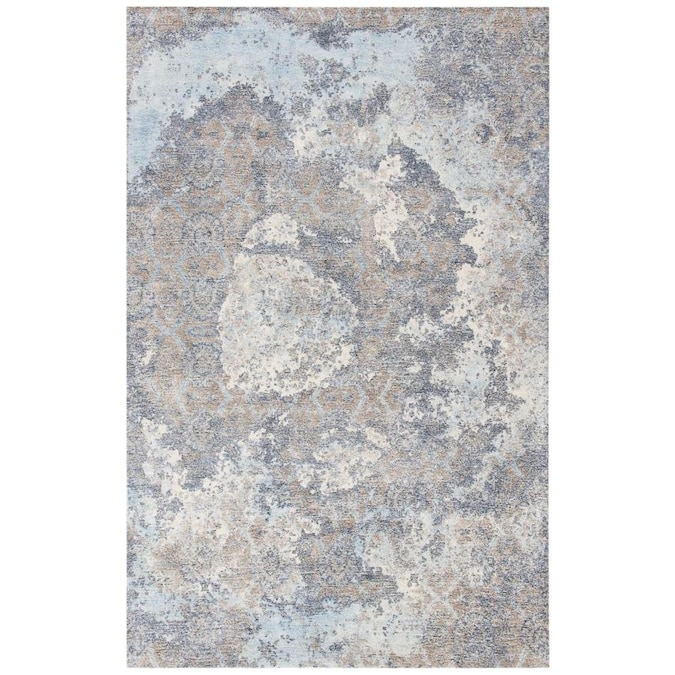 Safavieh Restoration Vintage Denel 4 X 6 Blue Ivory Indoor Abstract Vintage Handcrafted Area Rug In The Rugs Department At Lowes Com