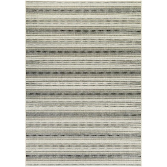 Couristan Monaco 5 X 7 Ivory Sand Indoor Outdoor Stripe Area Rug In The Rugs Department At Lowes Com