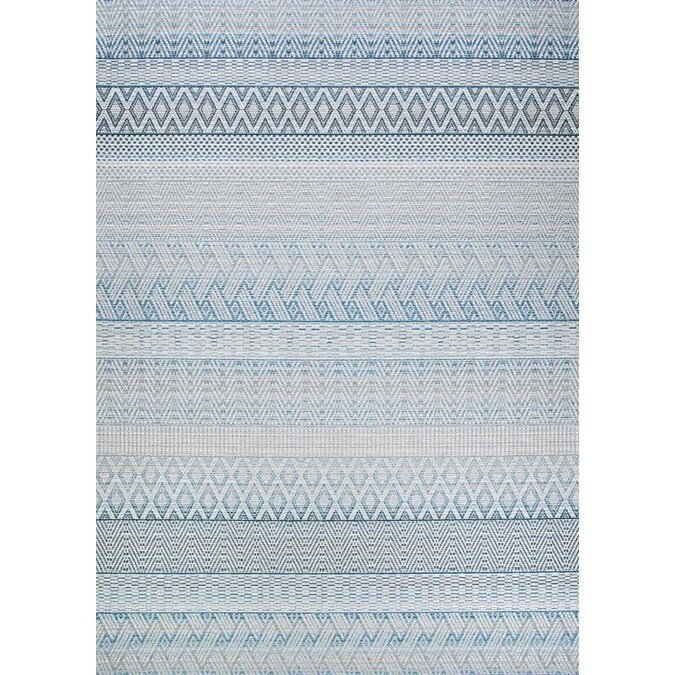 Couristan Cape 2 X 3 Surf Indoor Outdoor Geometric Area Rug In The Rugs Department At Lowes Com