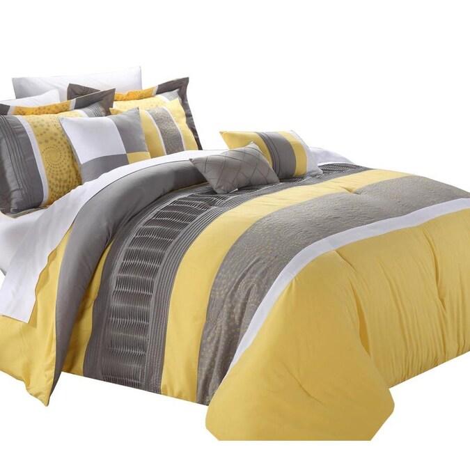 Piece Yellow King Comforter Set, Yellow King Bedding